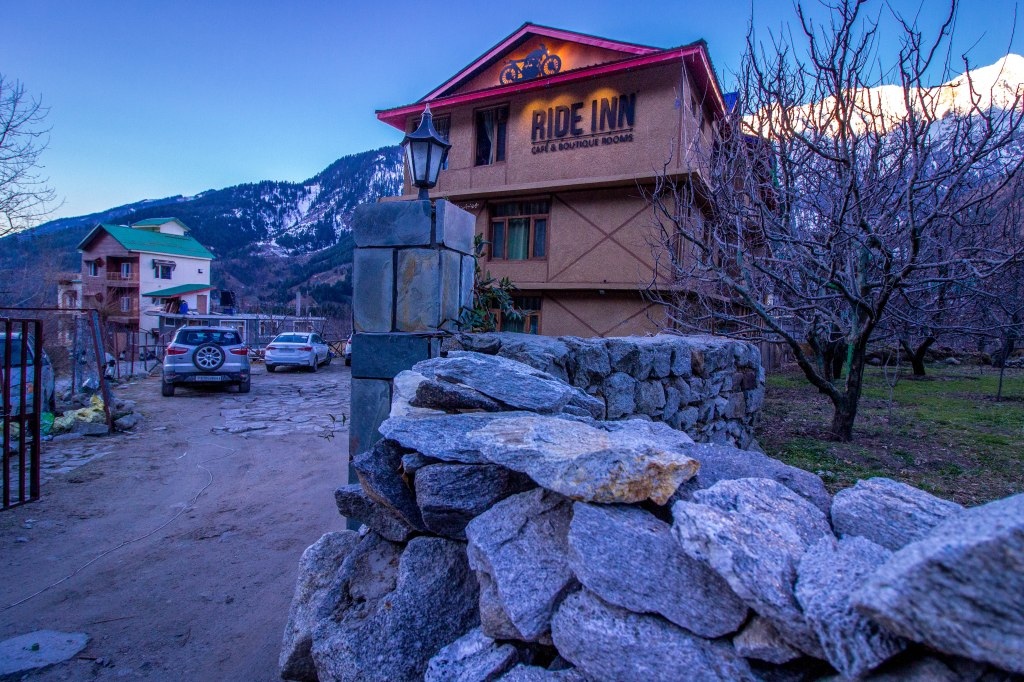 Early morning at Ride Inn Cafe & Resort in Manali